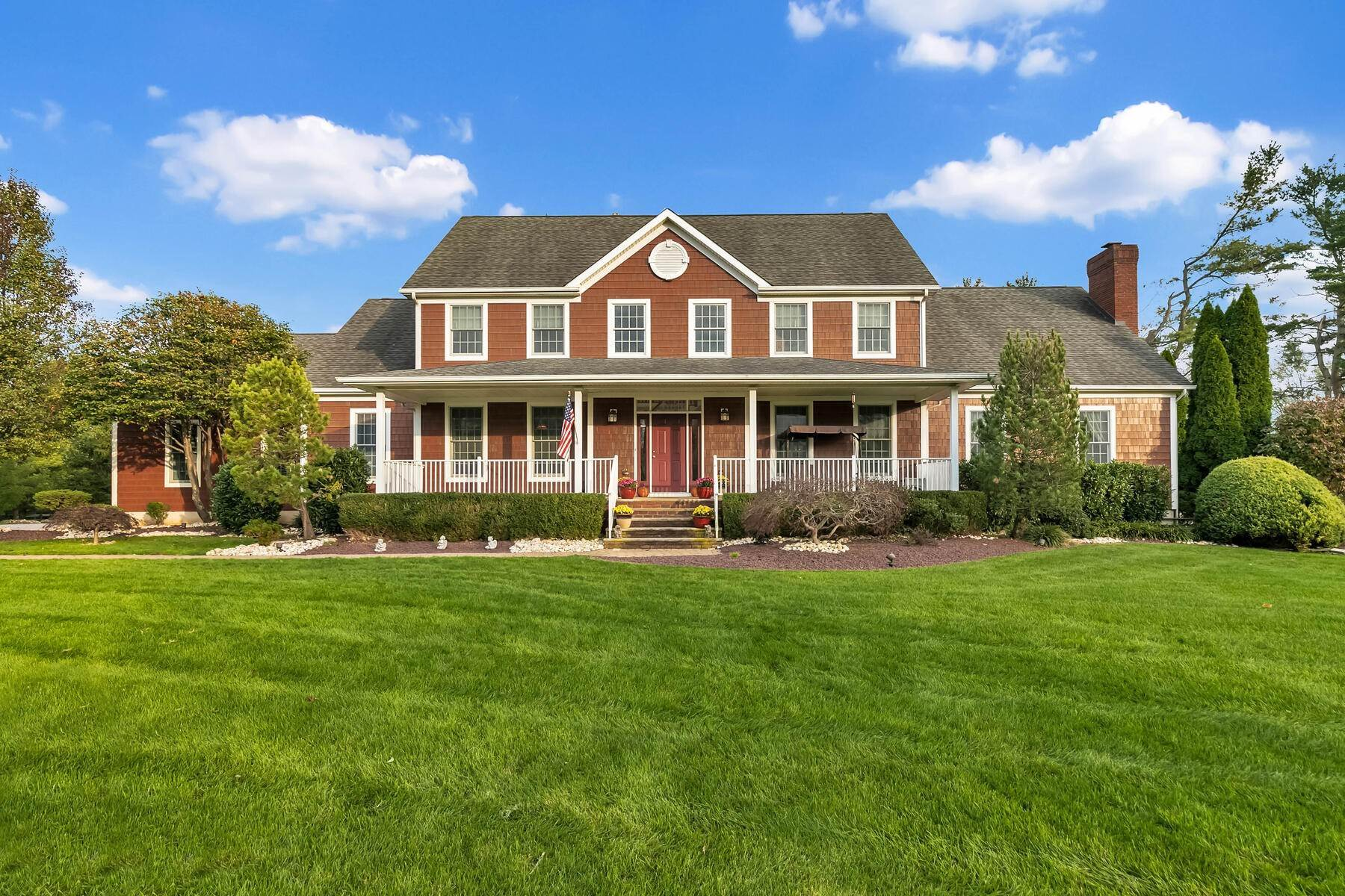 Single Family Homes for Sale at Magnificent Colonial 40 Yearling Path Colts Neck, New Jersey 07722 United States