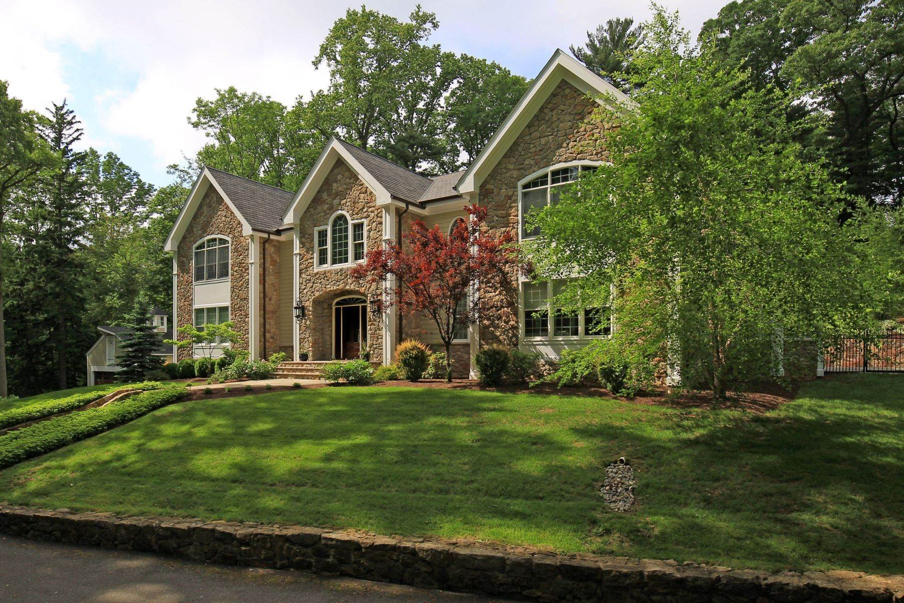 Single Family Homes pour l Vente à California Chic on the Bernardsville Mountain 311 Claremont Road Bernardsville, New Jersey 07924 États-Unis