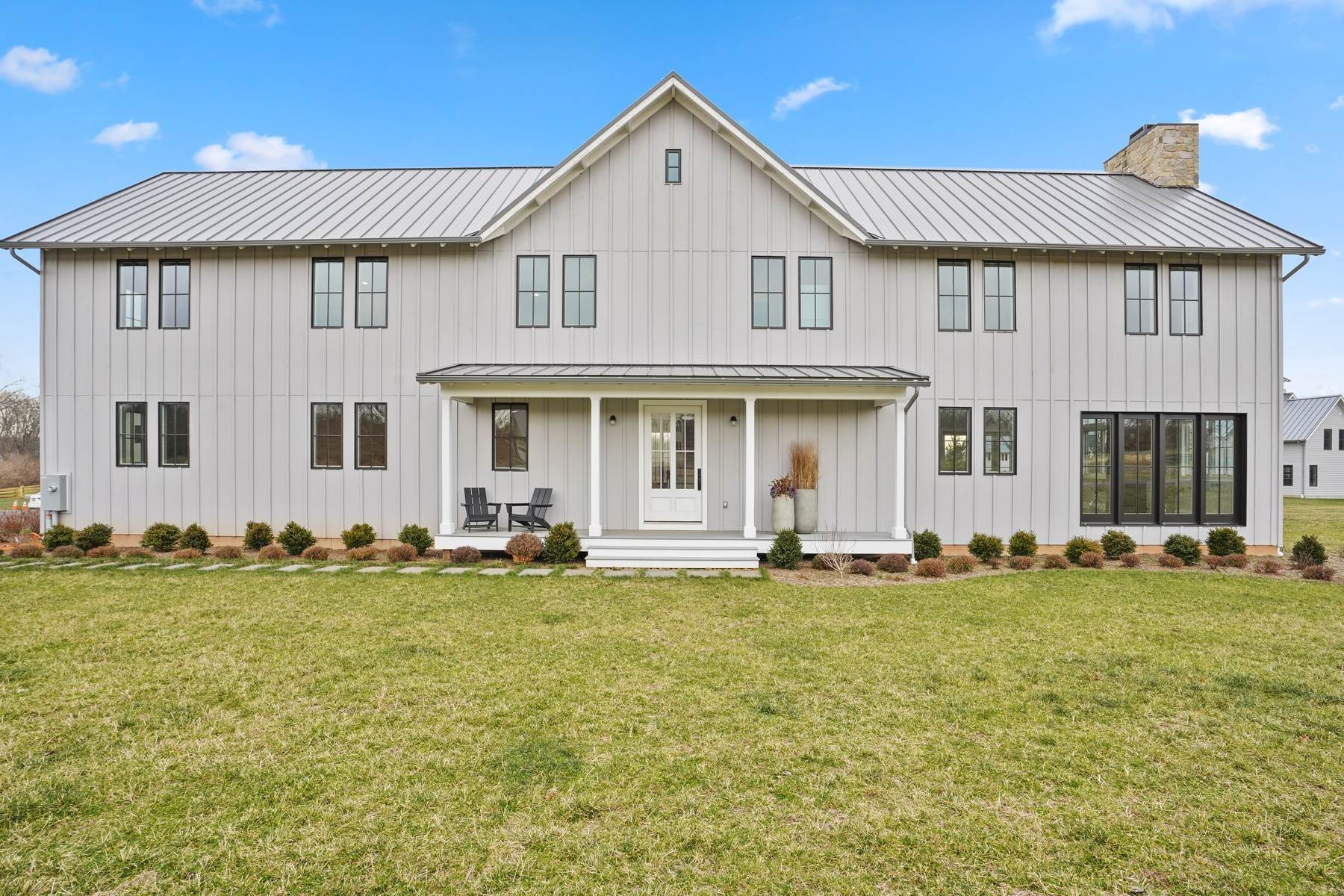 Single Family Homes for Sale at Modern Farmhouse with Open Concept Indoor Outdoor Living 23 River Farm Lane Basking Ridge, New Jersey 07920 United States