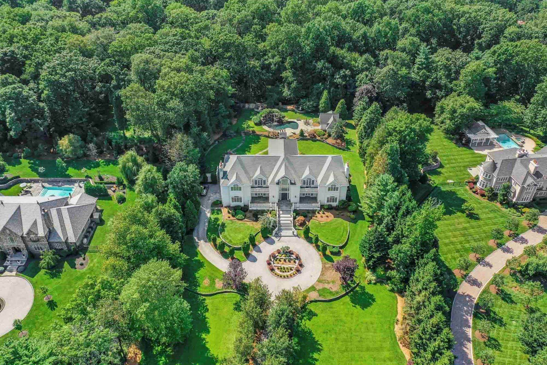 Single Family Homes الساعة Beautiful Estate 51 Chestnut Ridge Road Saddle River, New Jersey 07458 United States