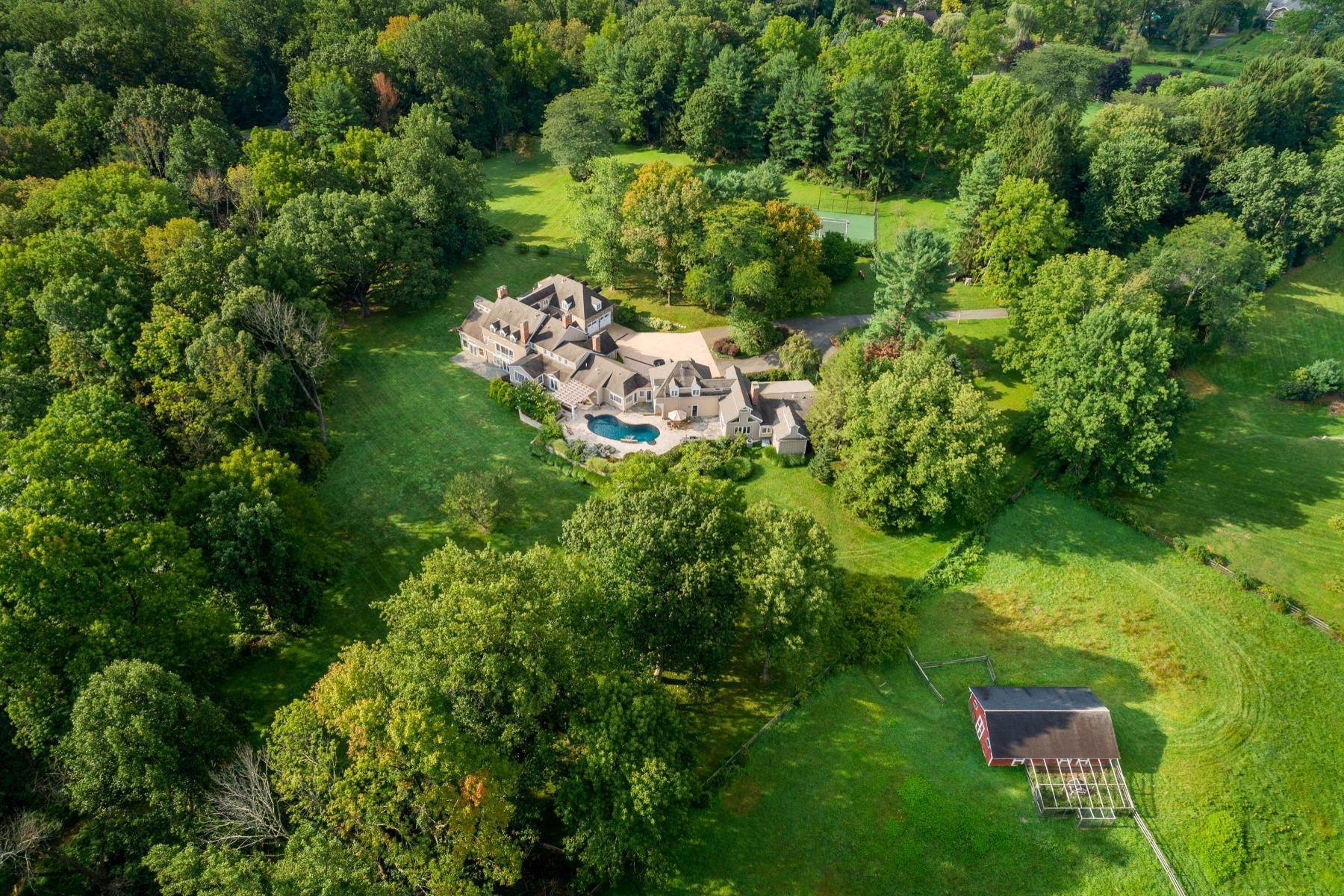 Single Family Homes for Sale at Country Compound Atop Bernardsville Mountain 329 & 331 Mendham Road Bernardsville, New Jersey 07924 United States